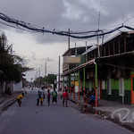 A general view of life in Ebeye. Kids all over the streets at all times of the day and night.
