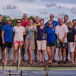 Most of the 2013 Florida Coral Spawn team. From left to right: Justin Zimmerman, John Than, Tanya Kamerman, Lindsy Huebner, Pete Mohan, Kathy Heym, Kristen Aanerud, Craig Johnson, Tom Connor ...