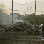 Softball field next to the trash dump on Ebeye
