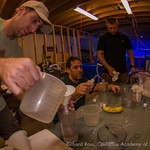 Justin Zimmerman from SeaWorld, Richard Ross form the Steinhart Aquarium in the California Academy of Sciences, and Jordan Ward from the Florida Aquarium and  prepare elkhorn and staghorn la ...